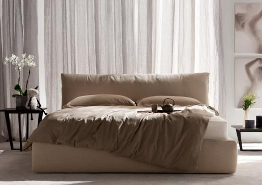 """Soho"" bed by Berto Salotti (Meda, Italy). 100% hand made in Brianza, by Italian Master Artisans."