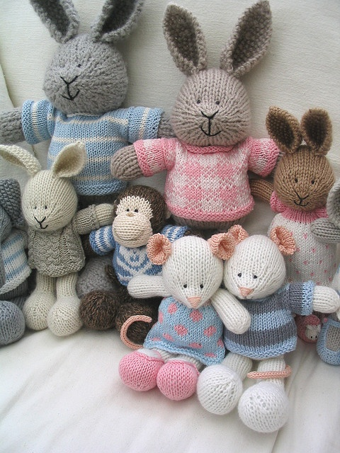 Blue & pink group by Little Cotton Rabbits