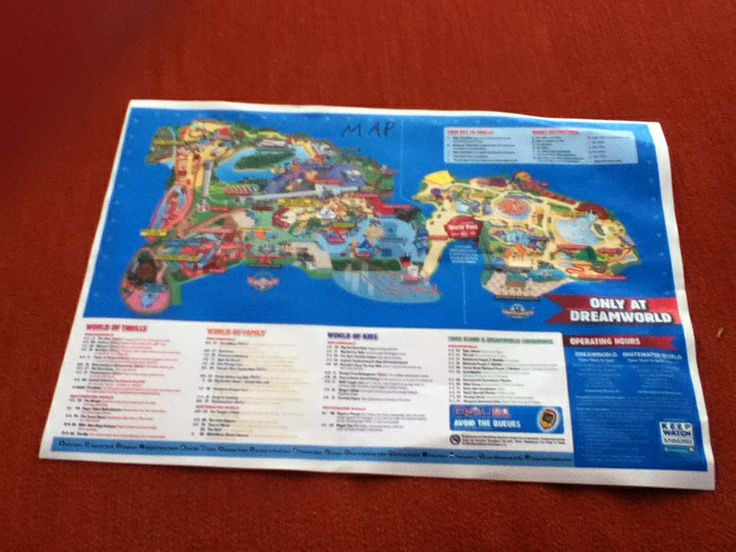 Look at this map of dreamworld I found! Ella s