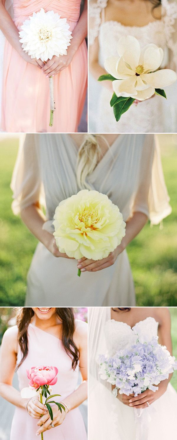 20 charming single flower wedding bouquet ideas