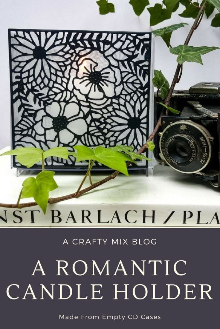 How to make a romantic candle holder from empty CD Cases
