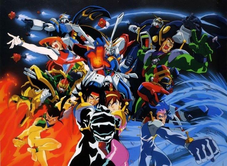 MOBILESUIT GUNDAM, Mobile Fighter G Gundam,  Domon Kasshu & Mikamura Rain (God Gundam), Shuffle Alliance : Chibodee Crockett (Maxter Gundam),  Argo Gulskii (Bolt Gundam), George de sand, (Rose Gundam), Sai Saici (Dragon Gundam).
