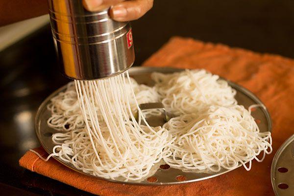 Idiyappam Recipe, How to make Idiyappam or Nool Puttu   Rice Sevai or Idiyappam