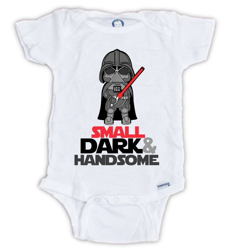 Cute STAR WARS Darth Vader Baby Onesie by JujuApparel on Etsy baby clothes, baby onesies, cute star wars, baby shower