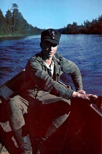 Litkan peränpitäjä. Kuvattu 13.-21.7.1942. Petsamo, Luttojoki