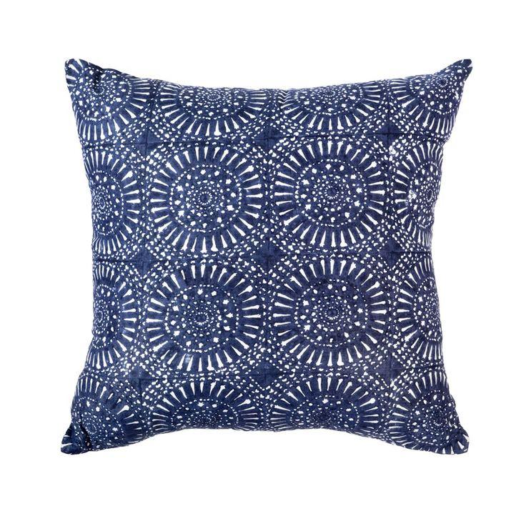Sphere Print Navy Medium cushion 50x50cm
