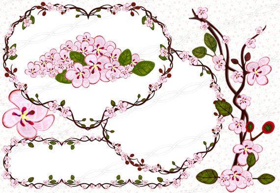 Instant Download 300dpi Png Frames Bloom Clip Art Baby