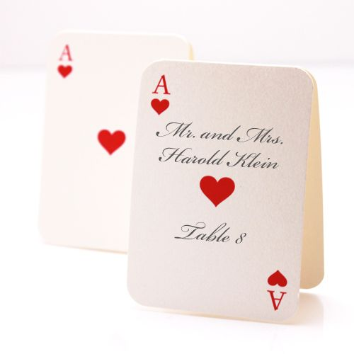 Blank Playing Card Place Cards