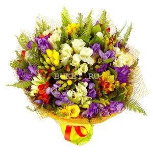 Букет фрезий «Цветочный фреш»