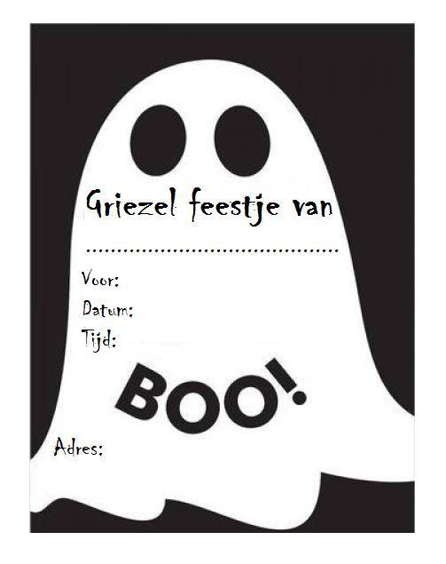 Afbeeldingsresultaat voor uitnodiging halloween kinderfeestje