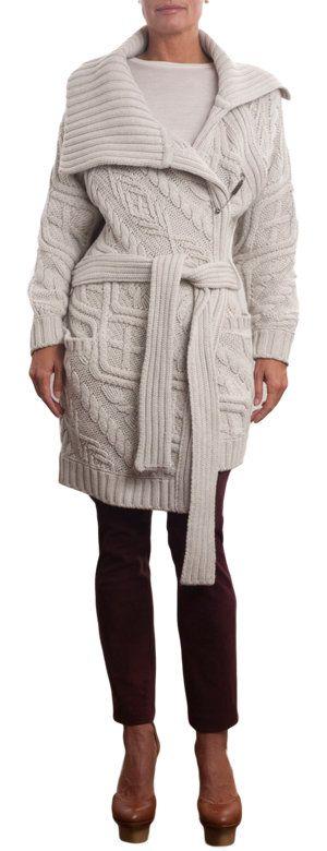 Ballantyne кабель вязать воронка шею свитер пальто Sale up to 70% off at Barneyswarehouse.com