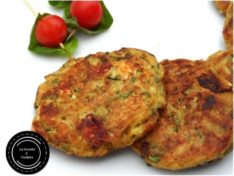 galettes courgettes-zucchini cakes