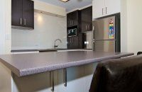 President Apartments - Kitchen Counter - Gold Coast Family Holiday Accommodation