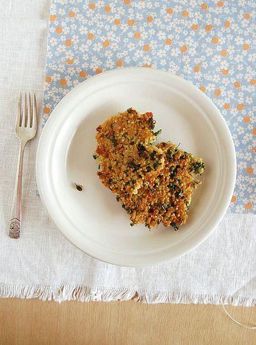Broccolini, bacon and quinoa fritters / Bolinhos de quinua, brócolis e bacon by Patricia Scarpin, via Flickr
