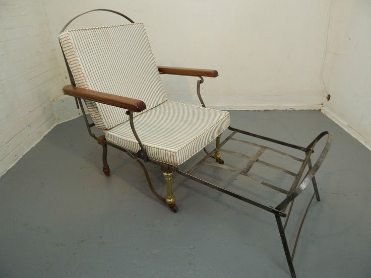 Brass,lounger,bed,conservatory,recliner,antique,campaign Chair,victorian