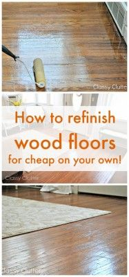 This amazing step by step 2 part series tutorial of how remove carpeting and refinish hardwood floors takes you from worn out dirty carpet all the way to d