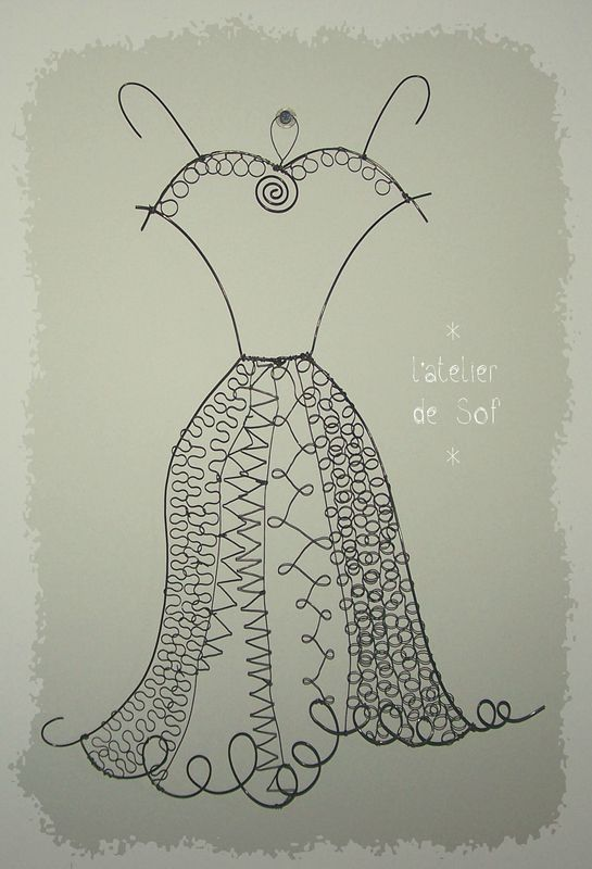 petite robe noire ... en fil de fer fil de fer 2014 by latelierdesof.com
