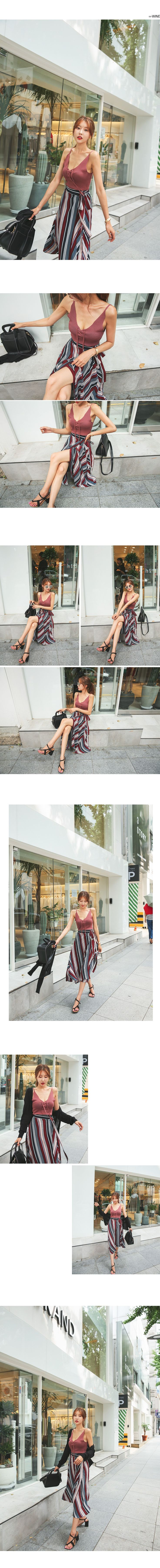 Uneven Stripe Wrap Skirt | DABAGIRL, Your Style Maker | Korean Fashions, clothes, bags&shoes, accessories, cosmetics