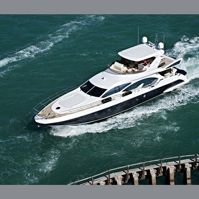 Rent this luxurious Yacht at reasonable cost in Miami Beach from South Beach Exotic Rentals #Yachts #Rentalyachts #Rentme #MiamiBeach