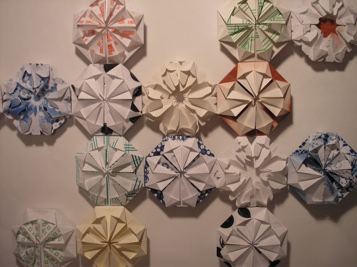 my work - origami wall quilt