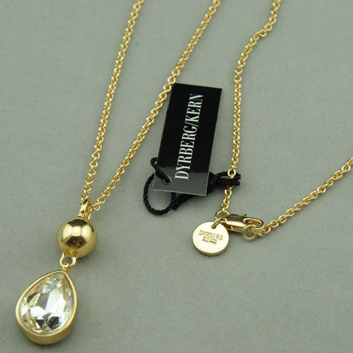 DYRBERG/KERN shine gold colorsliver color neckace with crystal print logo best gift only $15