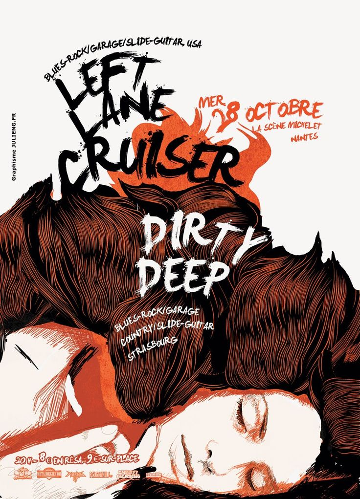 Left Lane Cruiser / Dirty Deep | JulienG graphiste Webdesigner Vendée Nantes