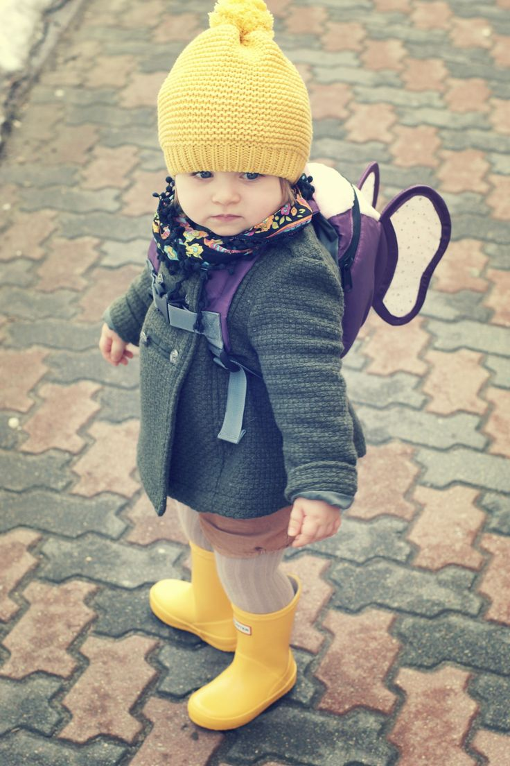 I like the idea of a cape on a boy's backpack, but wings on a girl's is presh!