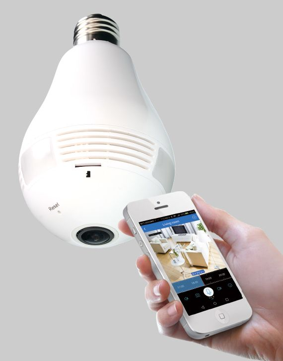 産業用LED照明・防犯カメラ企画製造のダイトクが、電球ソケット(E26口金)に付けてすぐ撮影ができる電球型360度Wi-Fiカメラ「Dive-y360」(だいびーさんろくまる)を発売しました。店頭価格は3万円程度。