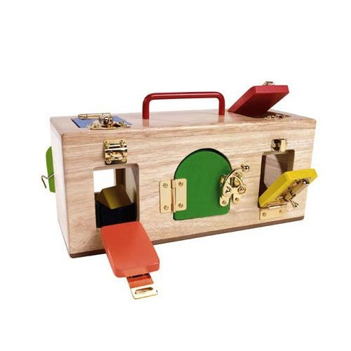 The Mamagenius original lock activity box is the perfect sensory play toy for kids who love to explore.