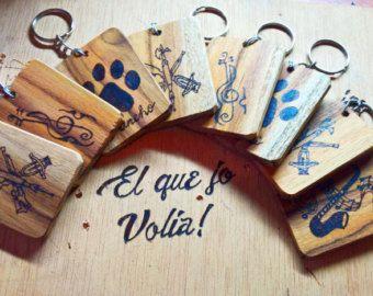Llaveros madera pirograbada 100% Personalizados - Editar anuncio - Etsy