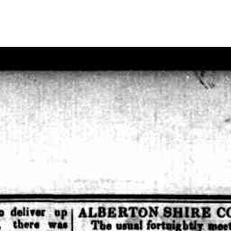 """Geo. Stanway, Port Albert Boarding House, old valuation, L35, reduced to L30."" Gippsland Guardian, 2 Nov 1867, p. 2, 'Alberton Shire Council'."