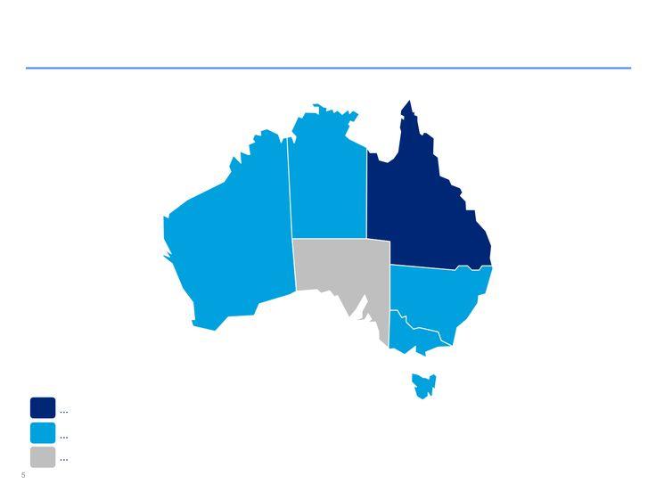 Mapas de Australia editables en PowerPoint
