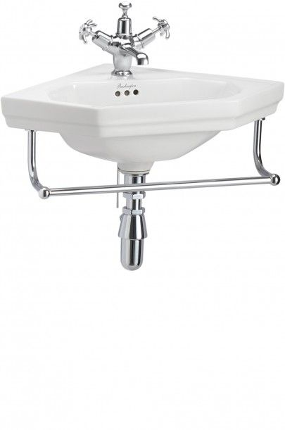The Burlington Victorian Corner Basin & Towel Rail Wall Mounted Inc VAT  £165.75