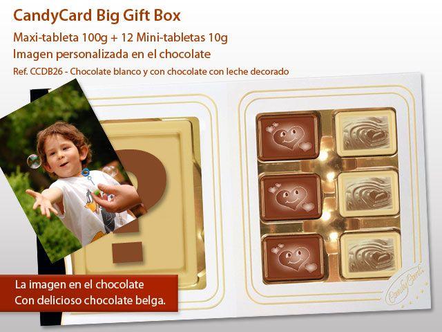 """¡Con CandyCard puedes elegir cualquiera imagen, la tuya, para poder """"imprimir"""" directamente en el chocolate! http://www.mysweets4u.com/es/?o=2,93,165,0,0,0"""