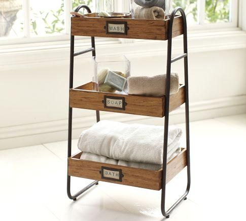 William Floor Storage From Pottery Barn  Must Find A Way To DIY This! Design Ideas