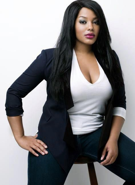 if you wear them right, blazers are so freakin sexy! this model is beautiful, love the hair, makeup, the whole schabang