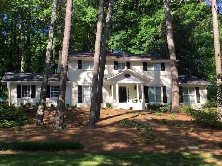 Painted Brick Two Story Home In Chastain Park Neighborhood Of Atlanta GA