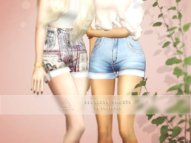 Sims 4 CC's - The Best: RECKLESS SHORTS by Serenity
