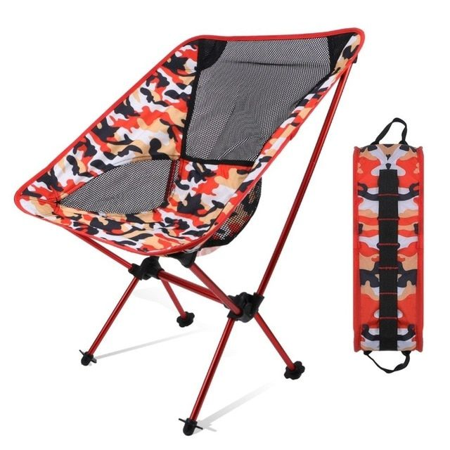 Portable Camping Ultralight Outdoor Chair With Carrying Bag Oxford Cloth Compact Folding Chairs For Travel Beach Hiking Outdoor Chairs Folding Chair Beach Trip