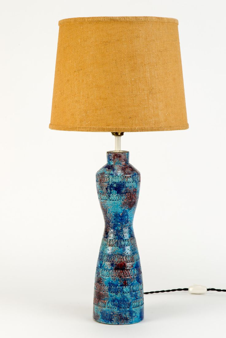 Aldo Londi; Glazed Ceramic Table Lamp For Bitossi, 1960s