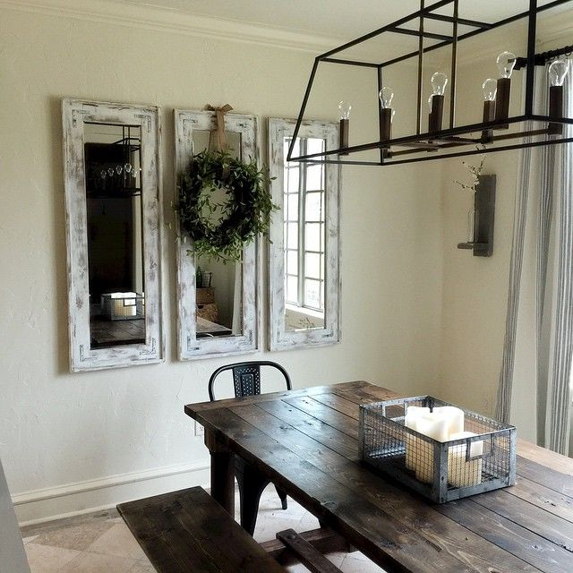 """""""I used a cheap garland I found at Hobby Lobby and hot glued it to the top of a grapevine wreath... Love how it looks in the dining room... Maybe it will…"""""""