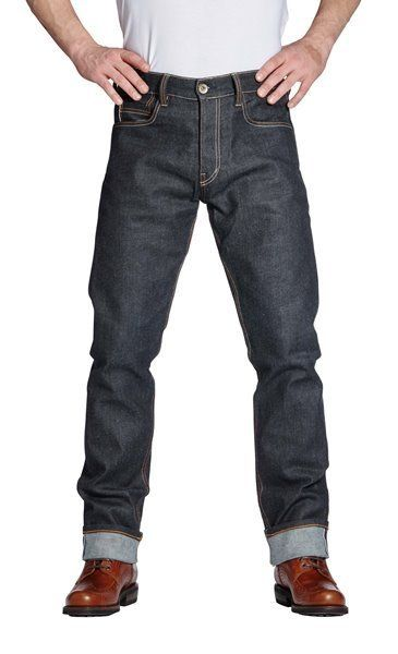 """ROKKER """"Iron Selvage Raw"""" motorbike jeans with Schoeller-Dynatec lining and armour pockets"""