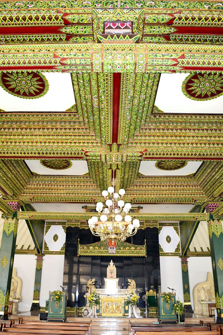 The Sacred Heart of Jesus Church, with an astonishing Javanese style interior...