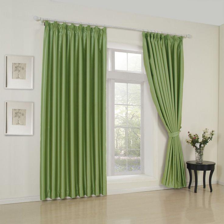 Classic Solid Green Room Darkening Curtain   #curtains #decor #homedecor #homeinterior #green
