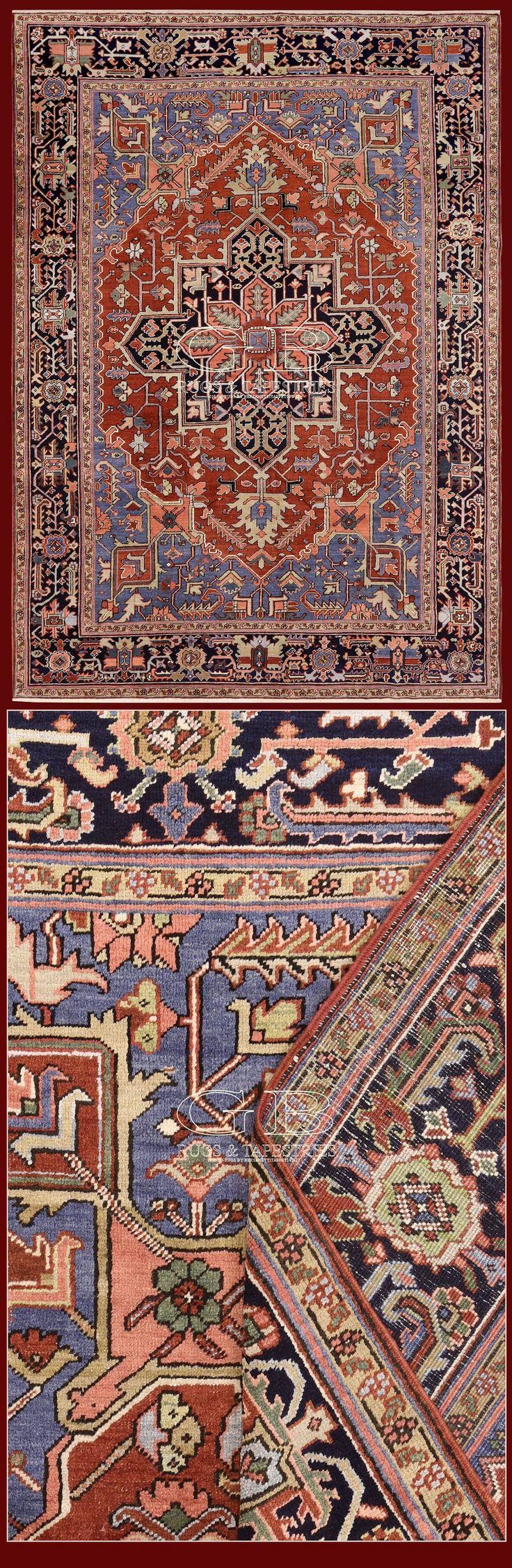 Antique Heriz Iran 365 X 234 Cm 11 98 7 68 Ft Cod