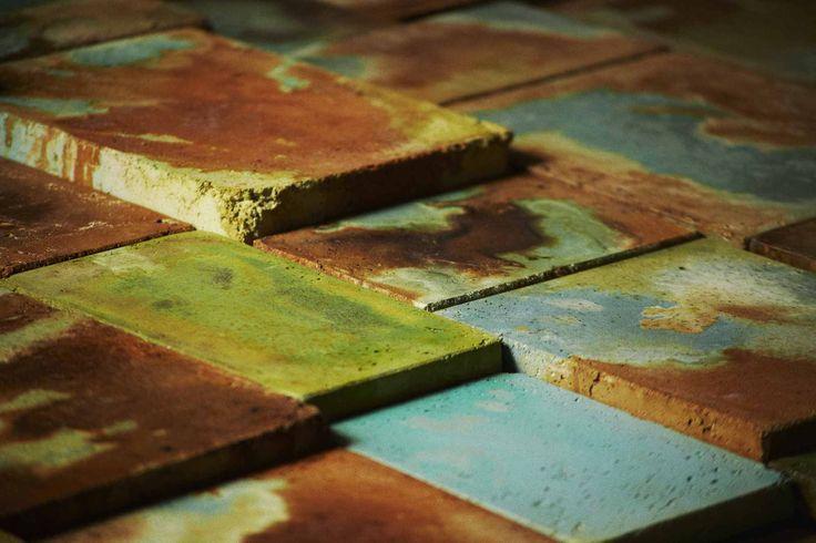 Baldosas de Concreto Manchadas con Acido