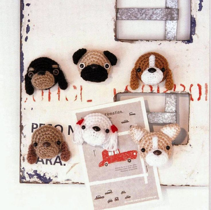 Amigurumi Dog Magnets Free Japanese Crochet Patterns Download