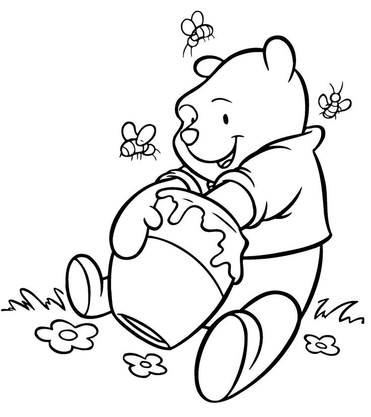 29 best winnie the pooh coloring page images on pinterest ... - Pooh Bear Coloring Pages Birthday