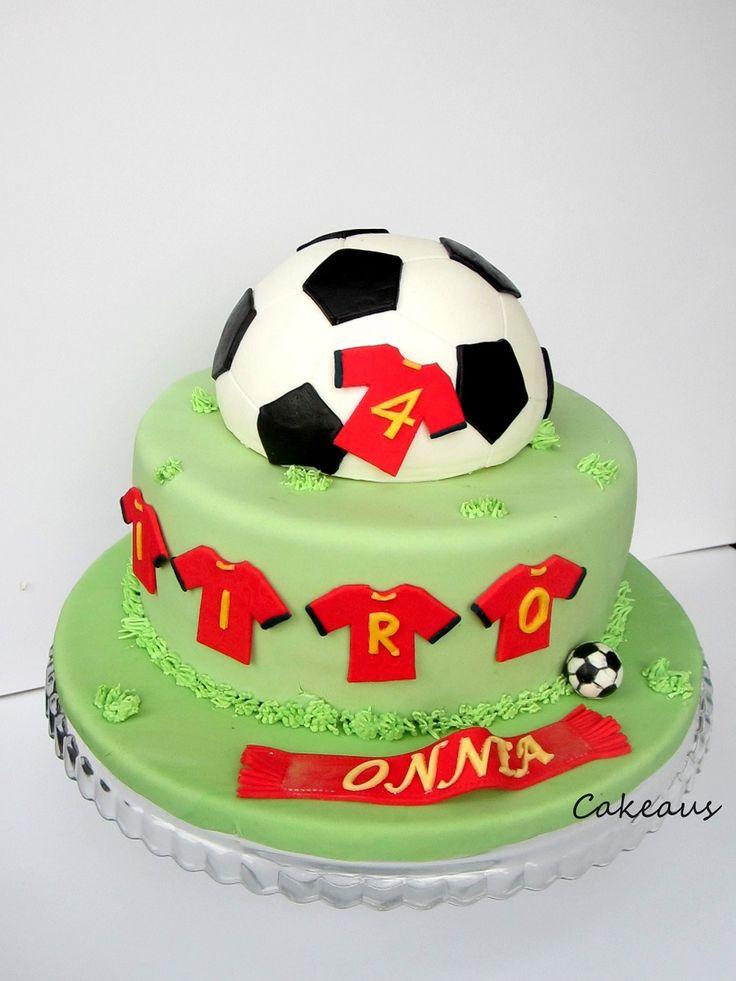 Jalkapallokakku Football cake