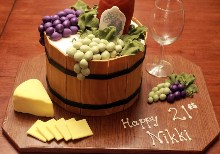 Happy 21st Birthday Nikki!! Wine cake.